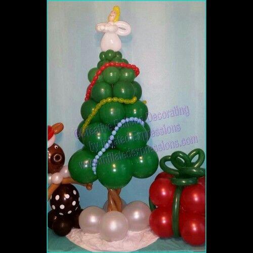 Balloon Decor For Christmas Season!