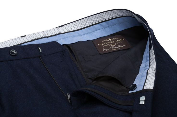 Benevento Dark Navy 100% Wool Flannel Trousers available now in pre-order at www.beneventoclth.com  Wool Flannel trousers are the best choice for classic look in winter time.