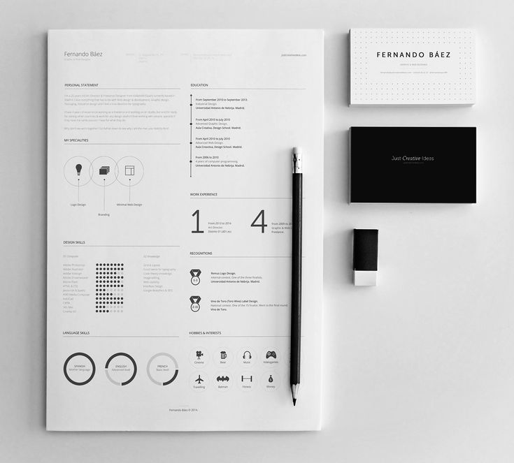 Fernando Baez created a FREE Resume Template on Behance - ideal - resume no experience template