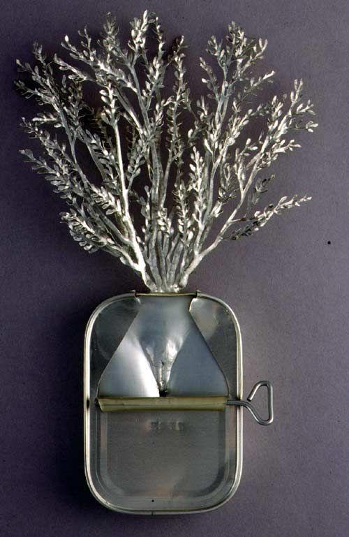 Fiona Hall, Atnyem, (Alyawar), Acacia kempeana, witchetty bush,  Aluminium & steel From the series: Paradisus Terrestris, 1999