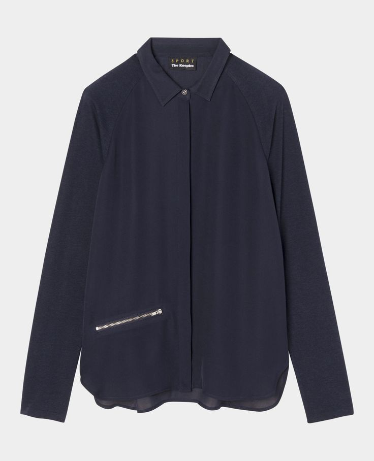 Chemise à manches en jersey - Chemises - The Kooples
