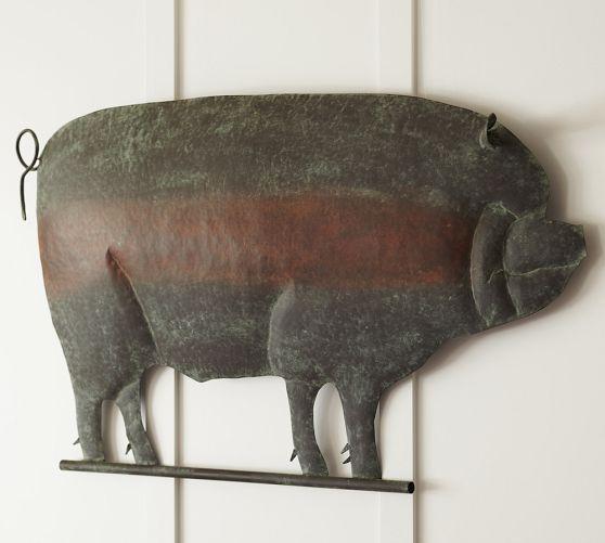 Museum Craft Collection   Shelburne Museum Pig By Century Weathervane.  Vintage Kitchen Decor ...