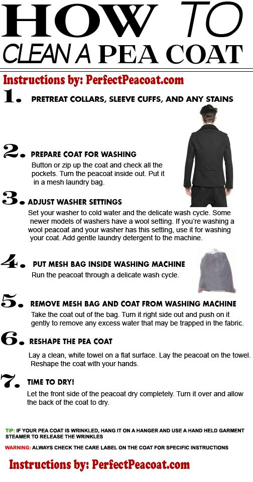 How to clean a pea coat for men and women