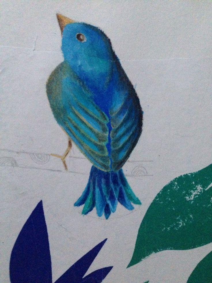 #piep #painting #bird monica gnosca
