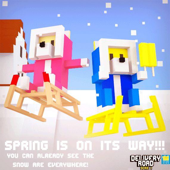 Delivery Road - Spring is on its way!!! You can always see the snow are everywhere!!! #indiedev #saturdayscreenshot #boxing #ios #gaming #friends #smile #instamood #amazing #style #lol #cool #webstagram #awesome #nice #bored #look #loveit #colorful #20likes #gameinsight #android #androidgames #likes4likes #likesforlikes