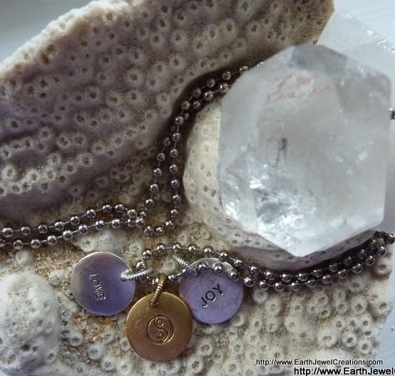 Personalized Charms - Earth Jewel Creations -gemstone jewellery handmade in Australia with love#