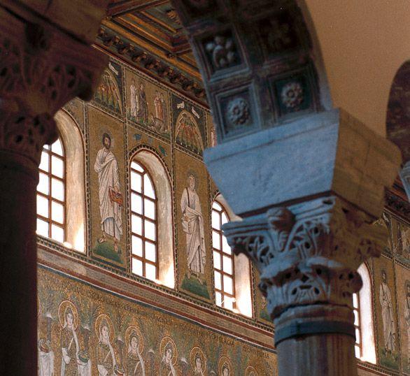 Ravenna, Basilica of Sant'Apollinare Nuovo, interior with mosaics
