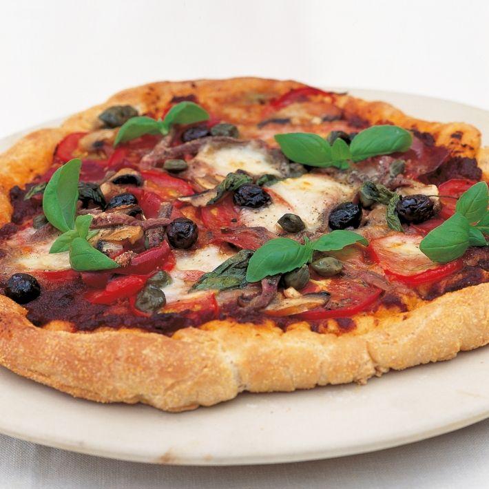 A picture of Delia's Four Seasons Pizza recipe