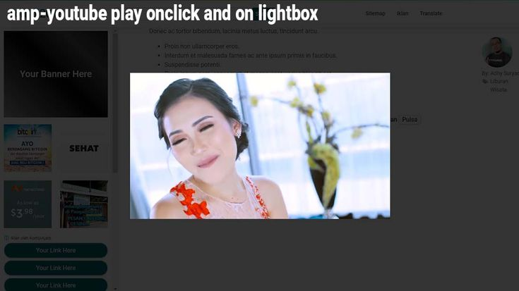 Amp-youtube Play Onclick And On Lightbox