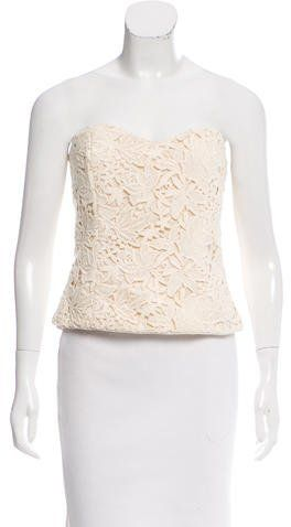 Miguelina Guipure Lace Bustier Top