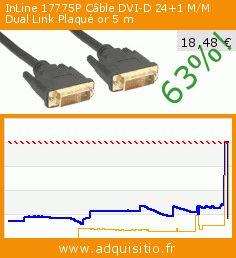 InLine 17775P Câble DVI-D 24+1 M/M Dual Link Plaqué or 5 m (Accessoire). Réduction de 63%! Prix actuel 18,48 €, l'ancien prix était de 50,20 €. https://www.adquisitio.fr/inline/17775p-c%C3%A2ble-dvi-241-mm