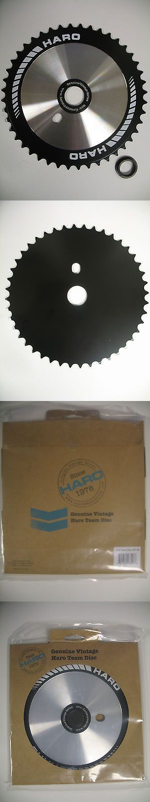 Chainrings and BMX Sprockets 177811: Haro Team 44T Bmx Sprocket Chainwheel Black Compact Disc Repop Vintage BUY IT NOW ONLY: $45.0