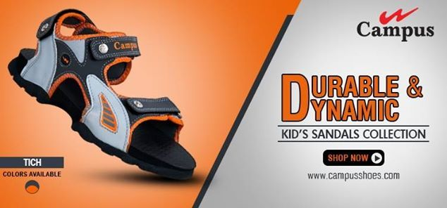 Transform your little one's look with this bold and fun pair of #sandals from Campus  Wide Range of #Kid's #sandals at Best Price. Buy Now @ http://www.campusshoes.com/kids/sandals.html