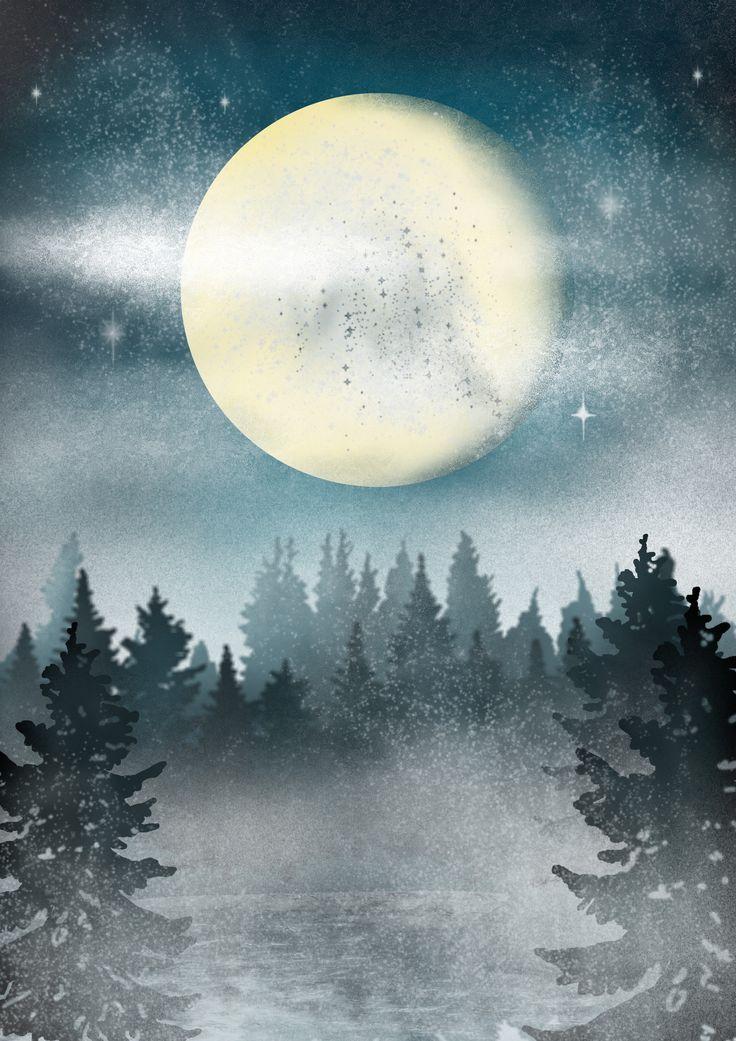 Winter Landscape, photoshop  https://www.facebook.com/justaddakeyframe