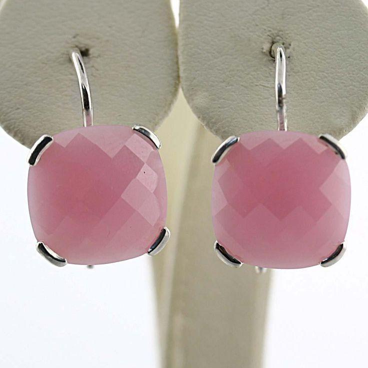 Thomas Sabo Sterling Silver Rose Pink Quartz Hook Earrings | eBay