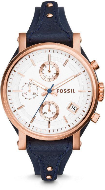 Fossil Original Boyfriend Chronograph Navy Leather Watch  ea9ae7d7a8