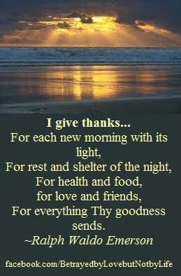Contentment, gratefulness. Because each day will bring more stuff that i believe i can handle.