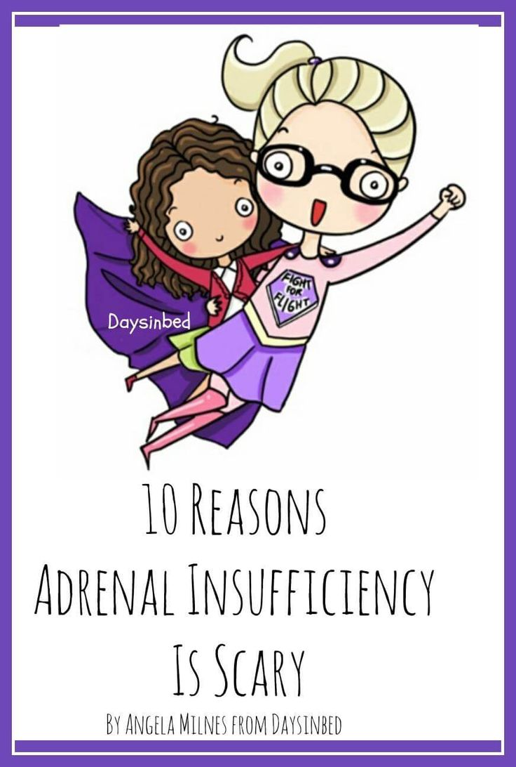 Adrenal Insufficiency Addisons Disease I have Adrenal Insufficiency and over the past few weeks I've been feeling a little bit scared. Adrenal Insufficiency causes me to feel scared at times and it's a real and genuine fear. I try to be strong and brave. I try to have courage and fight for the best treatment and I do all I can to manage my health but at the end of the day Adrenal Insufficiency is scary and at times I feel scared.