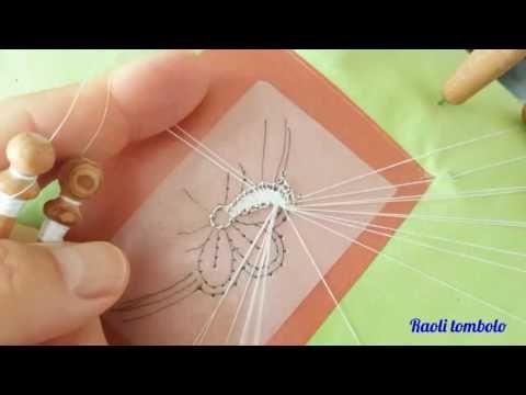 (66) Merletto a tombolo - integrazione al tutorial della Margherita: il piede di confezione - YouTube