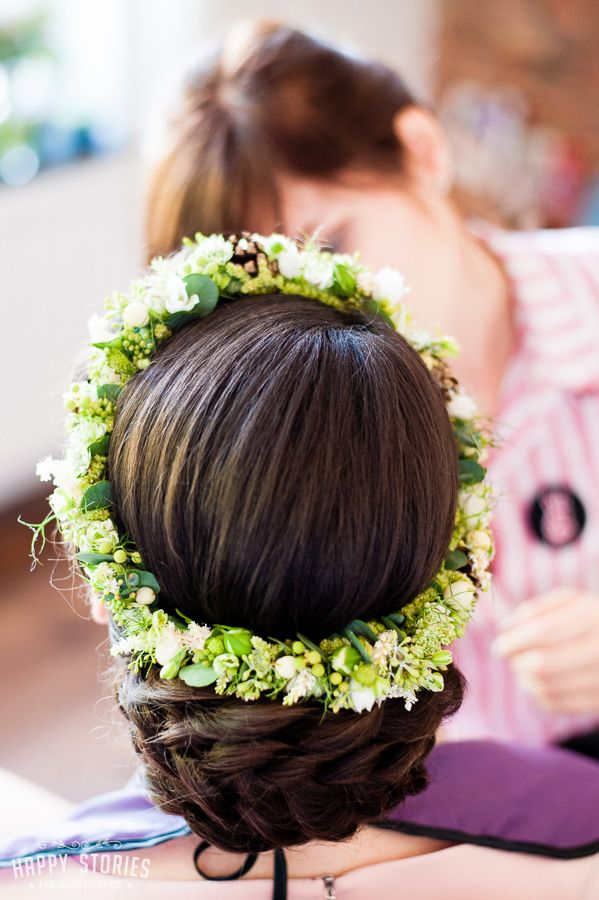 INNA Studio_  floral crowns / wianek ślubny / biało-zielony / regularny / fot. Happy Stories Pracownia Fotografii