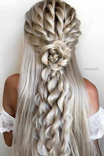 Ideas Of Half Up Half Down Wedding Hairstyles ★