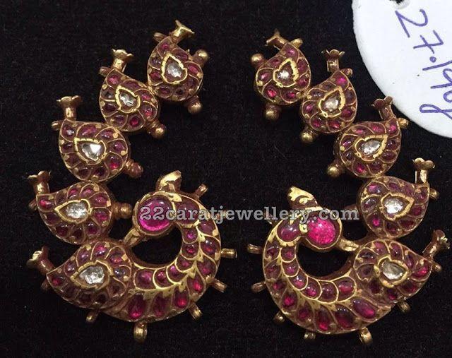 10 Different Style Kundan Jhumkas Chandbalis