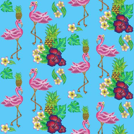 tropical island fabric by rosy_lees on Spoonflower - custom fabric