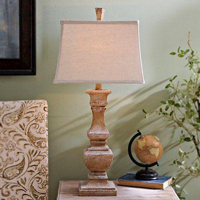 Rustic Cream Table Lamp | Kirklands