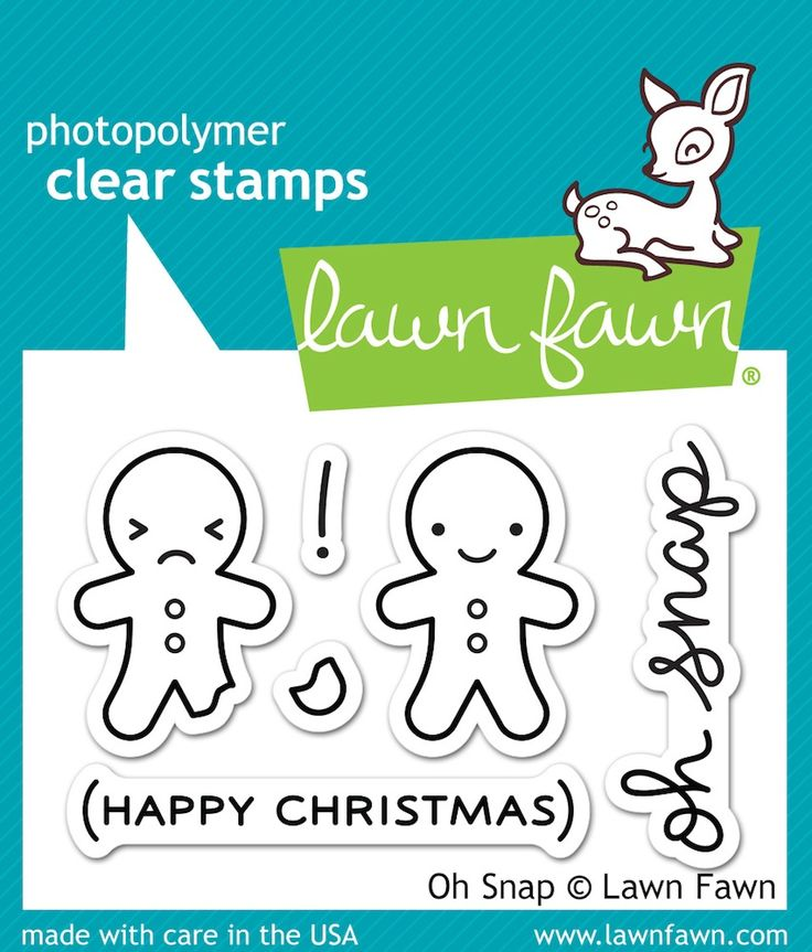 RESERVE Lawn Fawn OH SNAP Clear Stamps LF983
