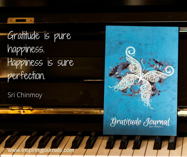 Gratitude is pure happiness. Happiness is pure perfection. #gratitudejournalbutterfly
