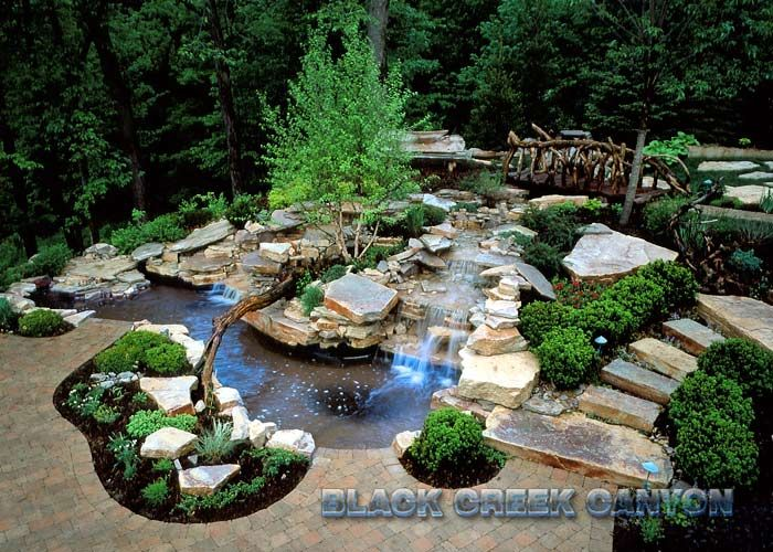 Cmp Led Bubblers And Waterfall Daytime