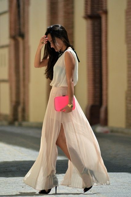 stunning: Fashion, Color, Neon, Street Style, Dresses, Outfit, Maxiskirt, Maxi Skirts