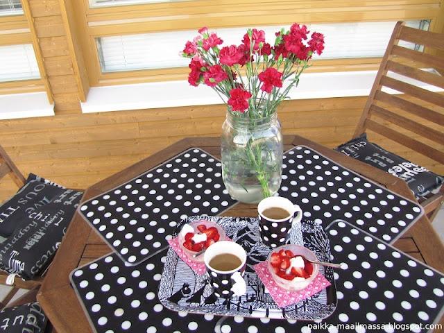 Coffee break on balcony