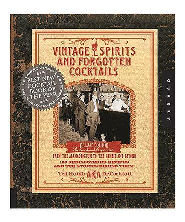 Vintage Spirits & Forgotten Cocktails Spiral-Bound Book