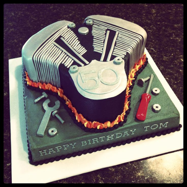 V twin motor cake