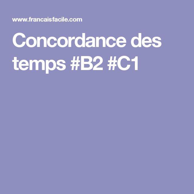 Concordance des temps #B2 #C1
