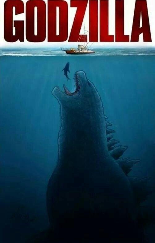 Godzilla vs. Jaws | LOL | Pinterest | Godzilla