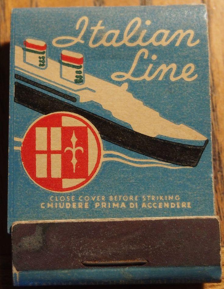 114 best Railroad & Cruise Ship Advertising Match Books Vintage ...