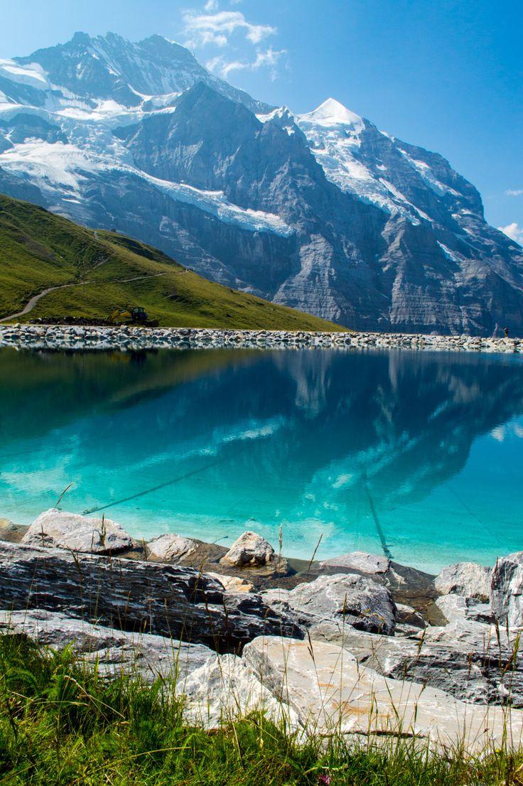 The beautiful reflections of the Jungfrau region of Switzerland.