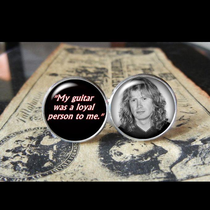 DAVE MUSTAINE QUOTE CUFF LINKS! www.kustomkufflinks.com