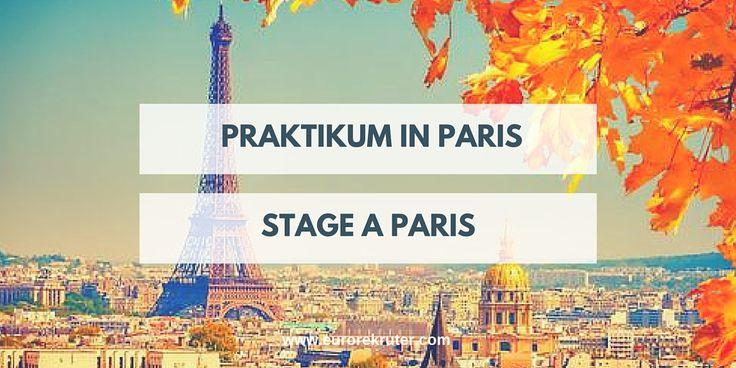 EuroRekruter:  Praktikum in Paris Praktika in Frankreich  Stage à Paris