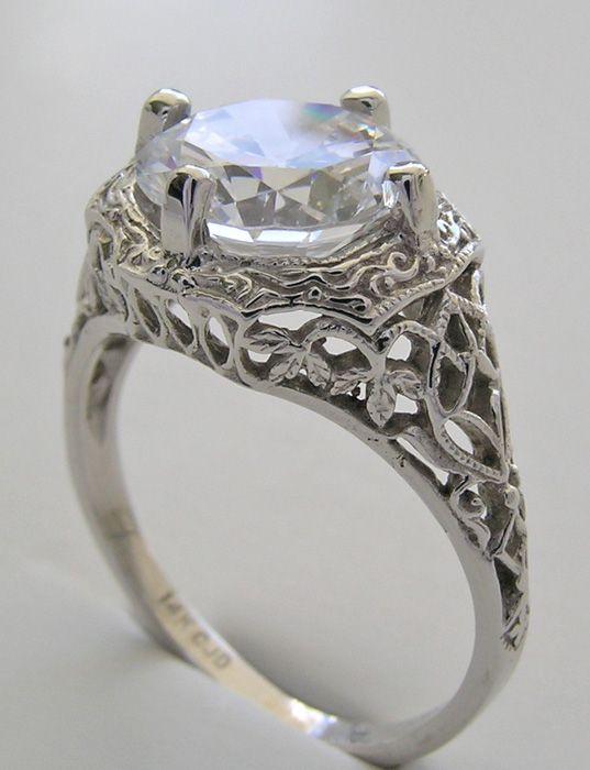 Vintage Wedding Rings Vintage Wedding Ring Mountings Rings