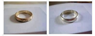 HOW TO CLEAN TARNISHED COSTUME JEWELRY - Wet the silver and add a dab of toothpaste. A little goes a long way.  Rub gently with the toothbrush until it's polished.  Rinse the polished jewelry in warm water and dry with a clean cloth.
