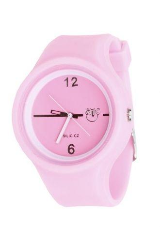 Silic Watch Color Round-světle růžová