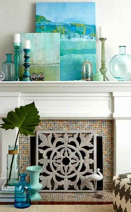 Mantel accents Accents Pinterest