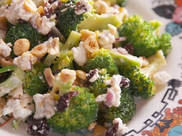 Get Broccoli Salad with Goat Cheese Recipe from Food Network