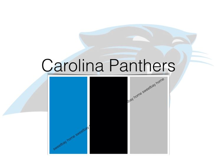 Interior Paint Palette Color Card | Carolina Panthers By SweetbayHome On  Etsy