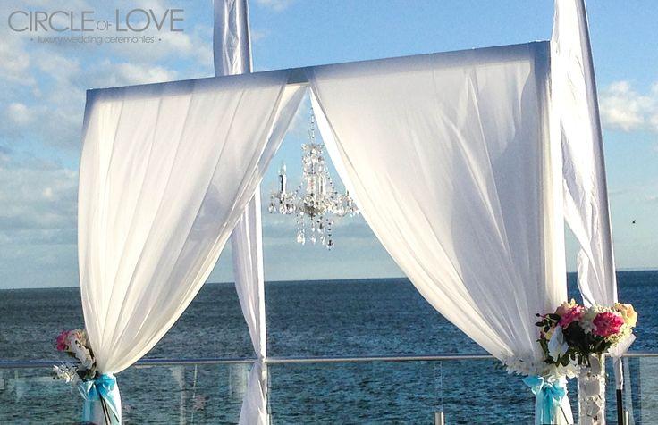 Wedding Arch on southern podium at Sandringham Yacht Club, Melbourne