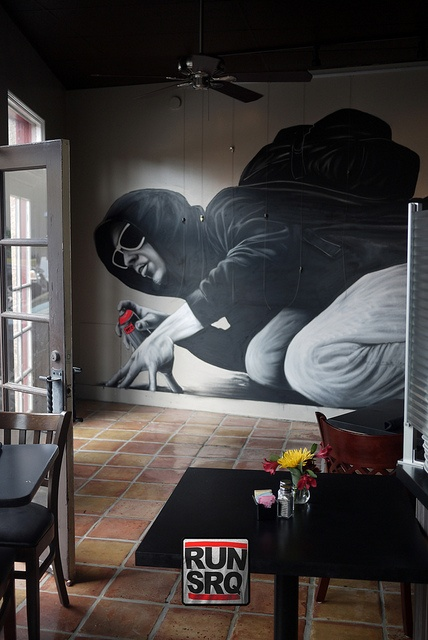This piece was created by MTO(spray can artist from Berlin, Germany) during the 2011 Sarasota Chalk Festival