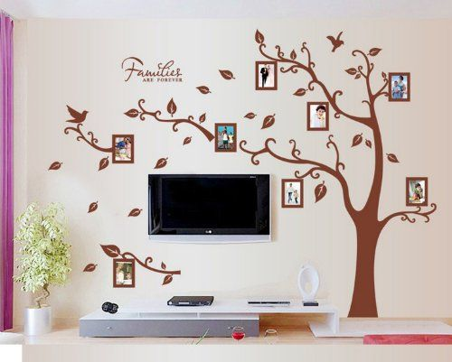 Wallmates Home Decor Mural Vinyl Wall Sticker Family Tree Pictures Frames Kids Nursery Room Wall Art Decal Paper ** SPECIAL OFFER AHEAD! : Nursery Decor